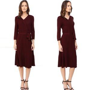 Kate Spade Wool Knit Wrap Dress Size S